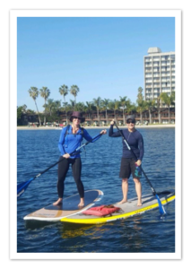 Peer Mentoring on Paddleboards