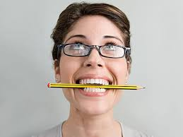 pencil in teeth technique