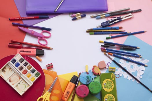 craft supplies in all colors of the rainbow